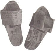 How To Make Newspaper Slippers