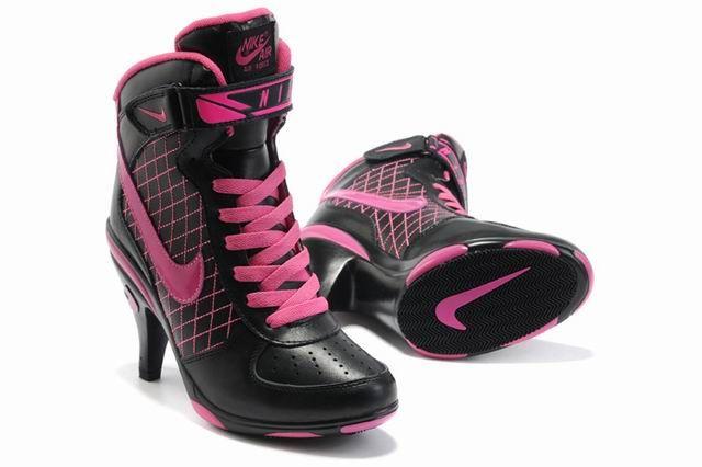 cb082a804d70 Nike AF High Heels Shoes Black Pink in 2019