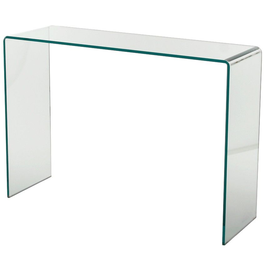 Console Table Clear Glass Konsolentisch Moderne