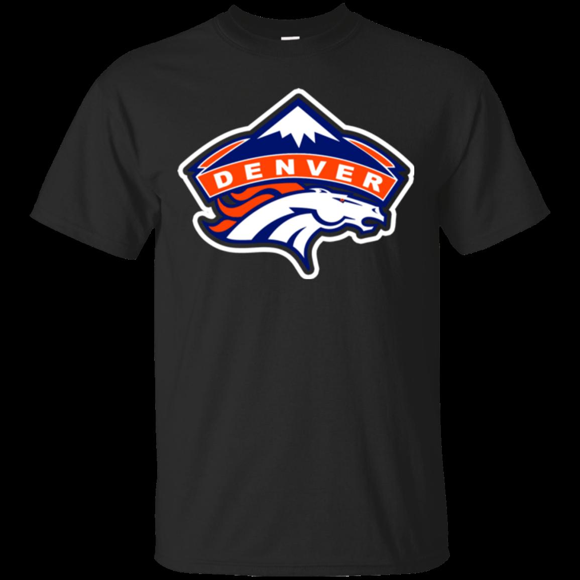 Logo Denver Broncos XL Black Tshirt Hoodie Sweater