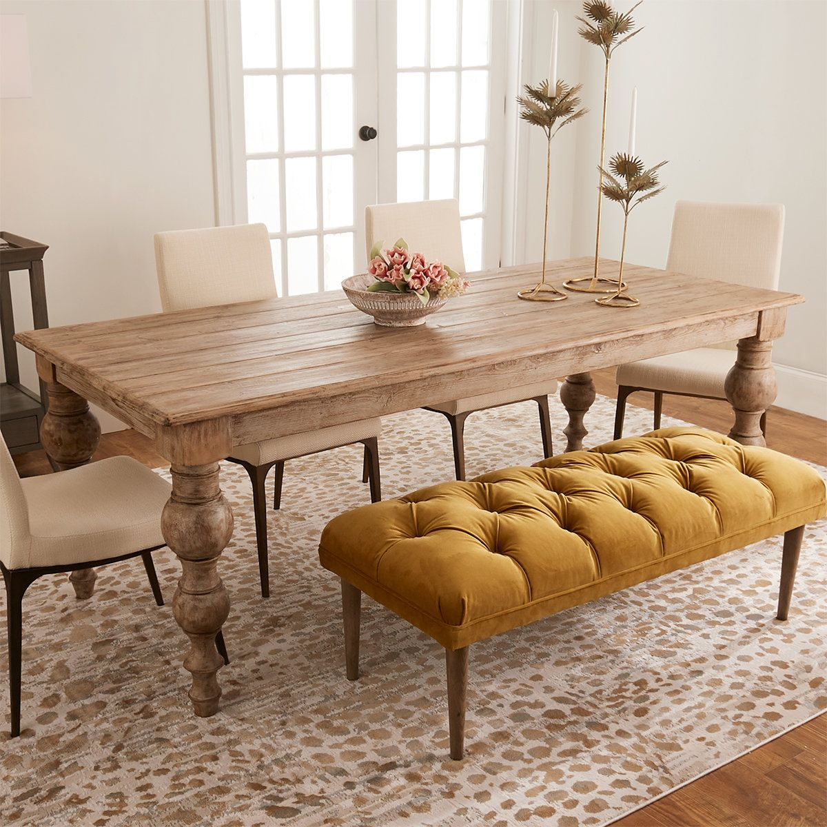 Knurled Knobs Dining Table