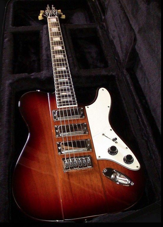 3 pickup guitar + pickguard inspiration. Firebird + Tele. B3 guitars.