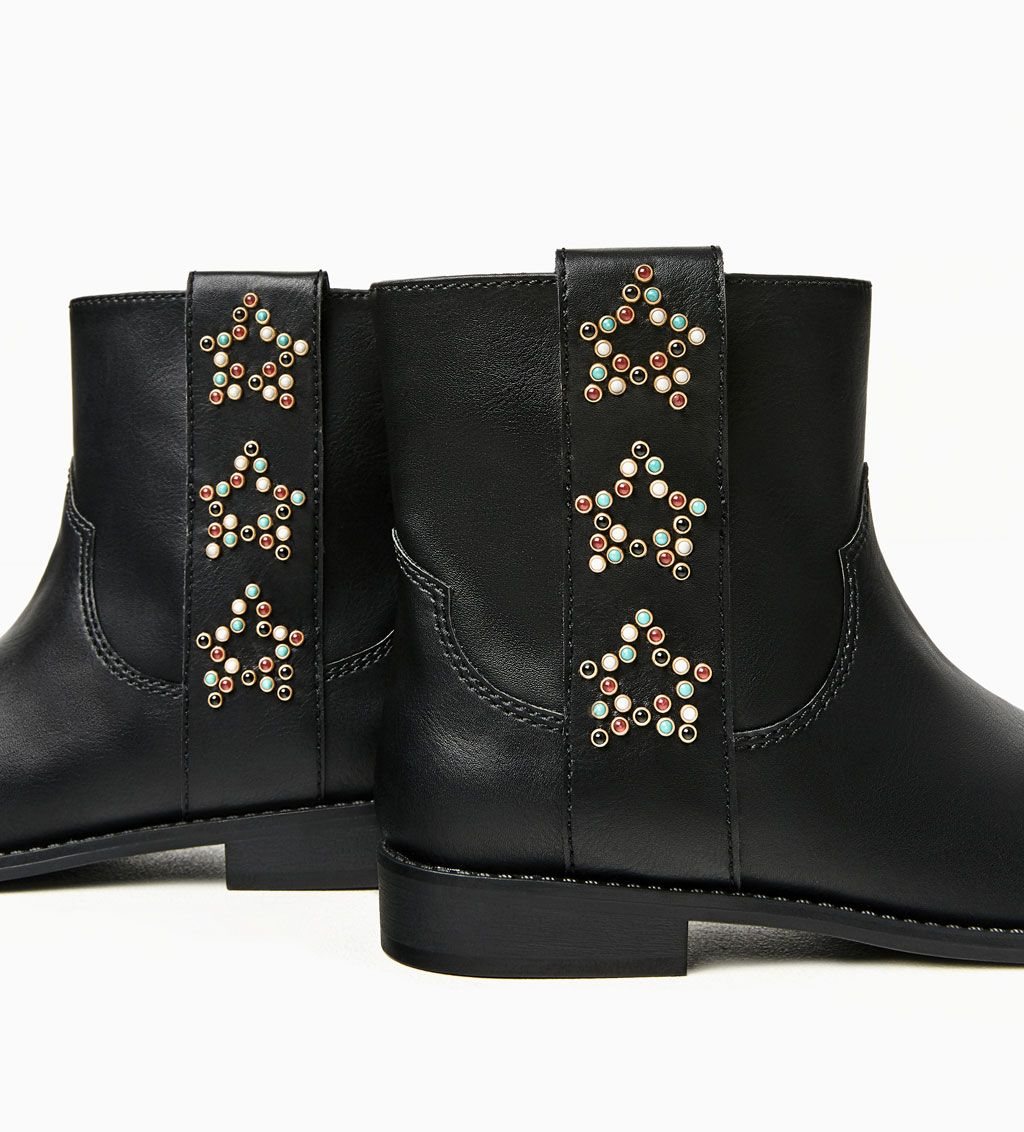 Image 3 of STUDDED STARS ANKLE BOOTS from Zara
