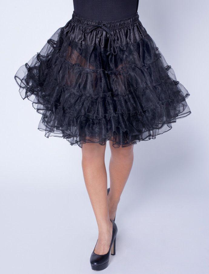 Petticoat de luxe schwarz Deiters Kostüm Karneval Fasching - black skirt halloween costume ideas
