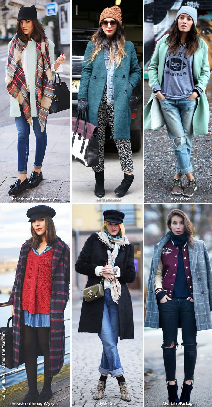 Blue is in Fashion this Year: Inspiration: Winter Looks