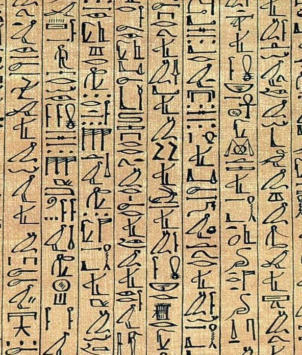 Cursive Hieroglyphs In The Papyrus Of Ani A 1250 BC Book Dead Manuscript