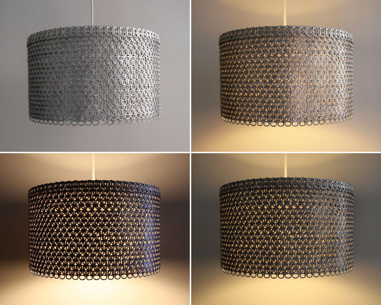 Soda Can Tab Drum Shade Large Eco Friendly Pendant Light Shade