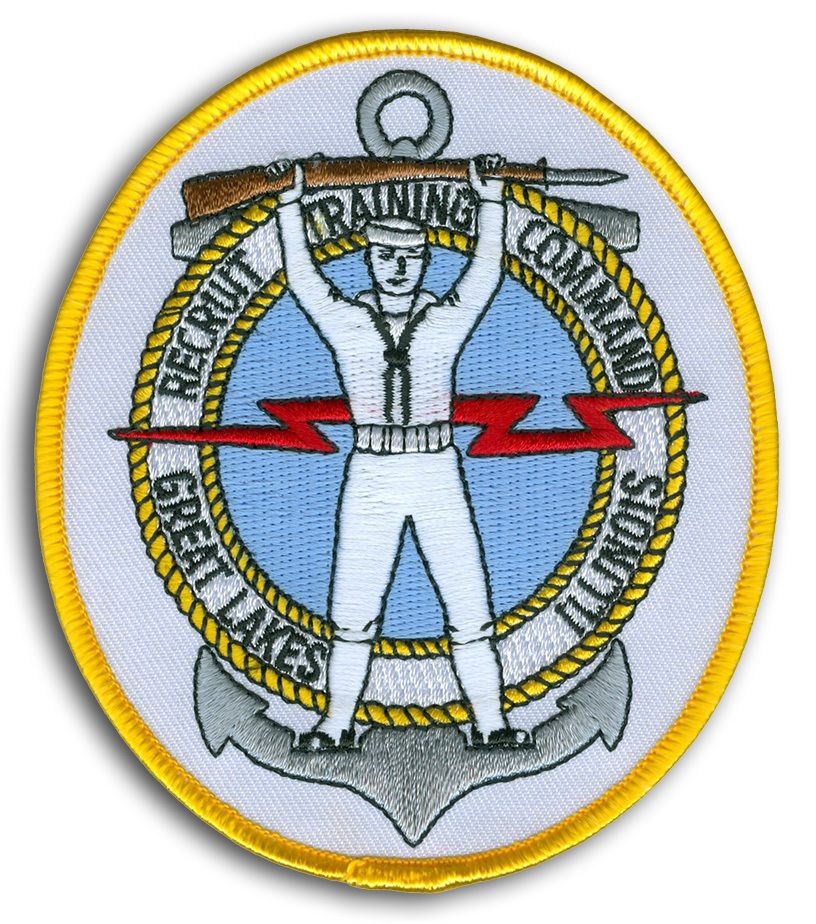 9 5 Us Navy Rtc Great Lakes Il Recruit Training Command Patch Early Version Ebay Collectibles Patches Us Navy Recruitment
