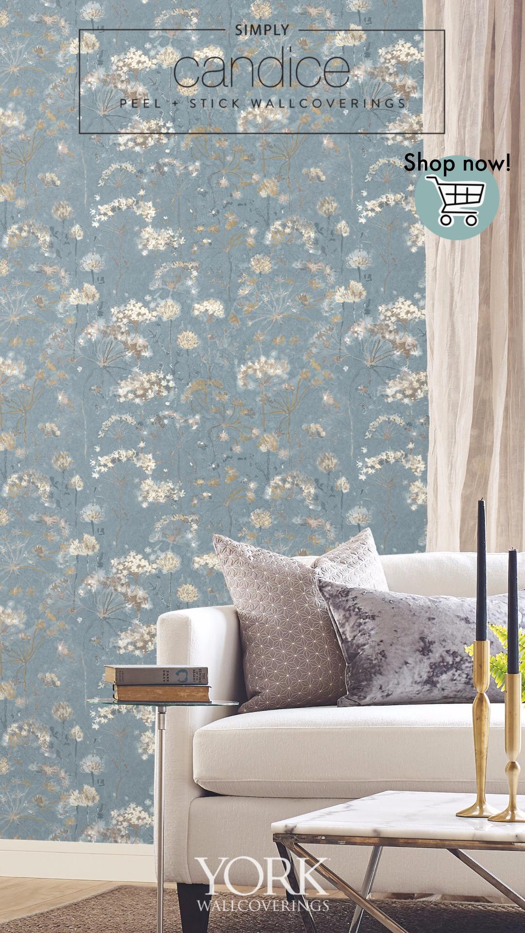 Botanical Fantasy Premium Peel And Stick Wallpaper Peel And Stick Wallpaper Wall Coverings Wallpaper Roll