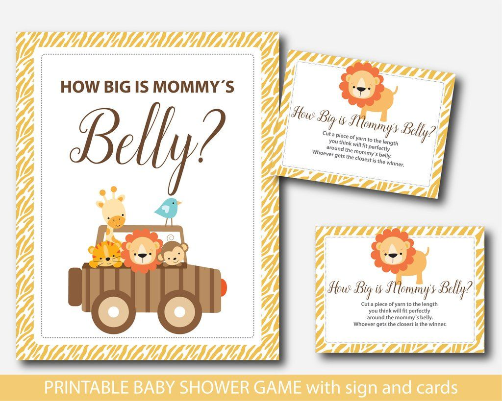 Lion How Big Is Mommys Belly Game Safari Belly Game With Cards And