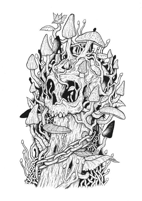 Raskraski Antistress Skull Coloring Pages Coloring Pages