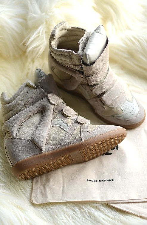 Isabel Marant wedge sneakers - want!!! Get in my closet and on my feet
