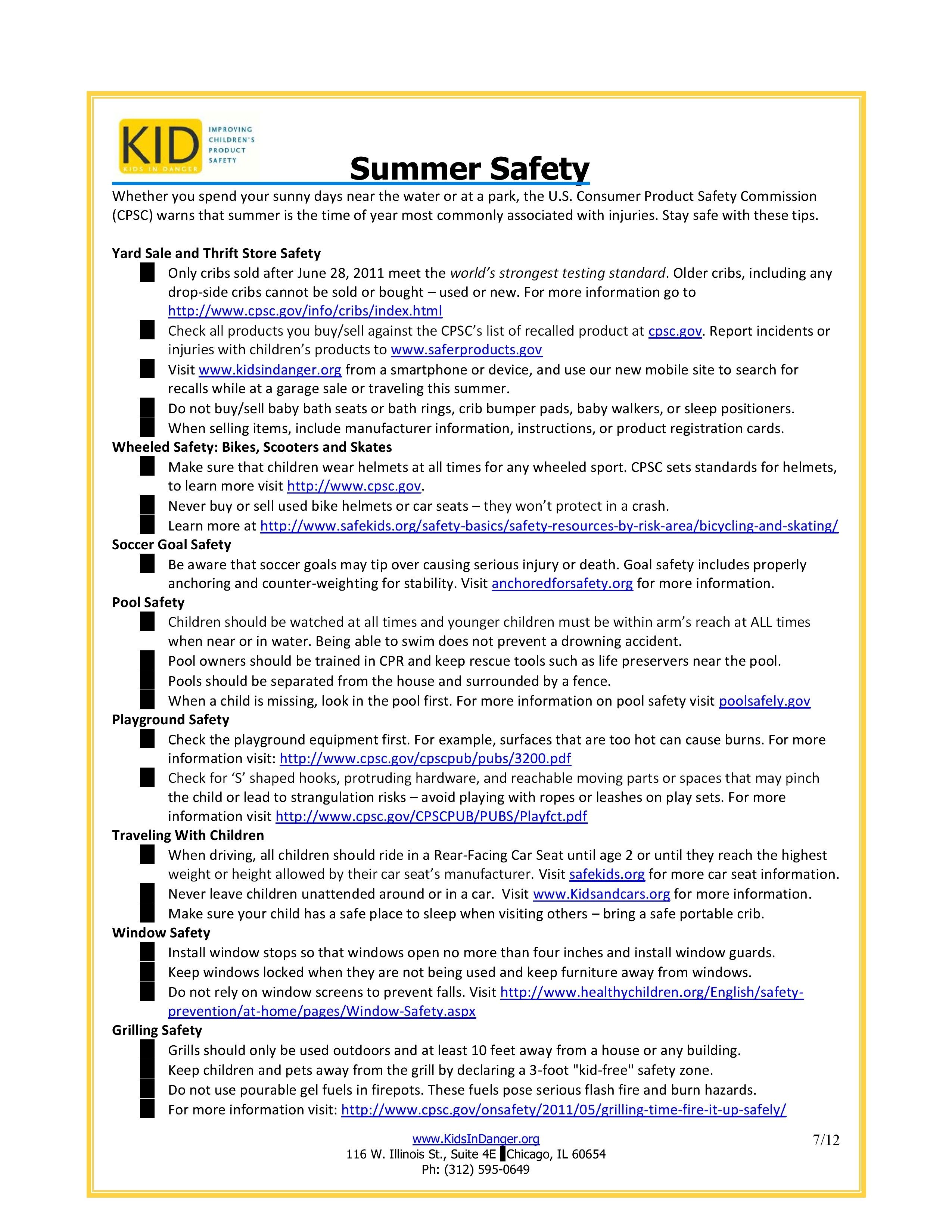 Stay safe this summer with these tips http//www