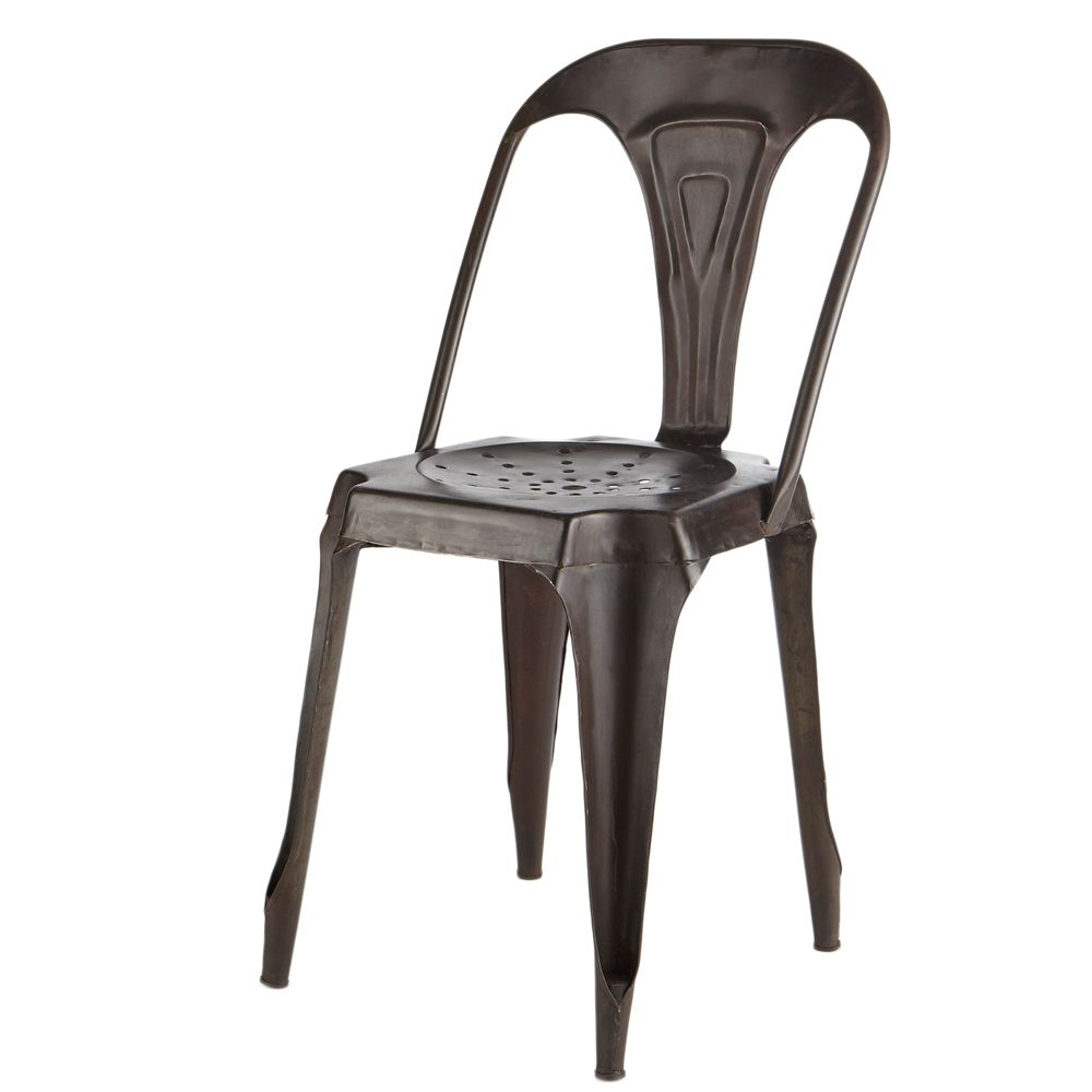 chaise indus en métal noir | industrial interior | pinterest