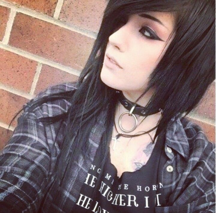fun black emo hair love that its short on one side and