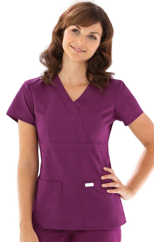 3 Pocket Mock Wrap Top Greys Anatomy Scrubs Pinterest Wraps