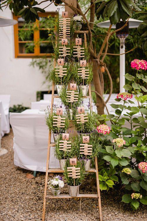 Sitzplan VintageLeiter wwwmooidecorationde  Hochzeit
