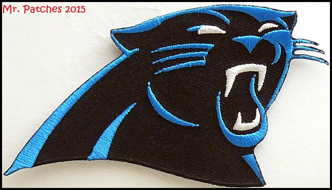 the latest af2c3 42d9d NFL Carolina Panthers Team logo Iron On Patch | Iron On ...