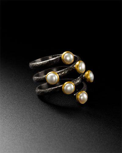 Gurhan 'Spring' Silver & 24K Pearl Ring