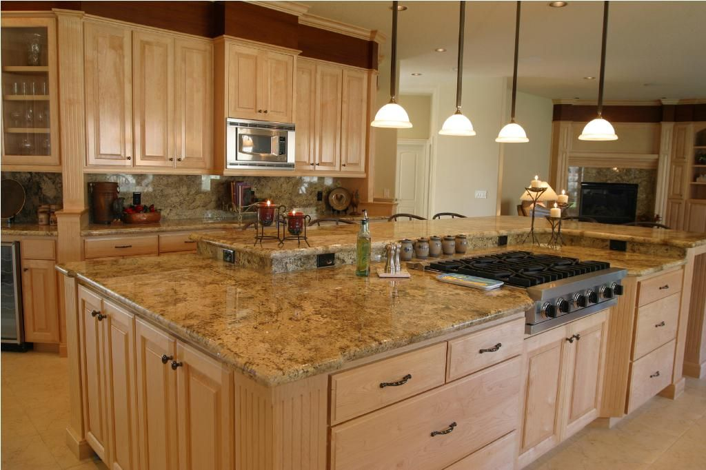 Large Island With Cooktop And Seating With Split Level Counter Beauteous Counter Kitchen Design Inspiration
