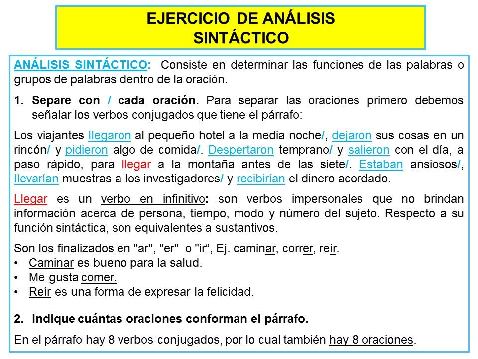 Ej Análisis Sintáctico Apuntes De Lengua Libros De Comunicacion Clases De Oraciones