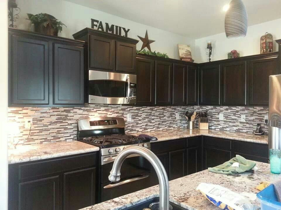 Like the decor on top of cabinets kitchen pinterest - Decals for kitchen cabinets ...