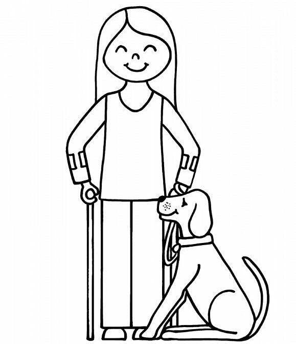 Engelliler Haftası Boyama Sayfaları Vücudum Etiquetas Para
