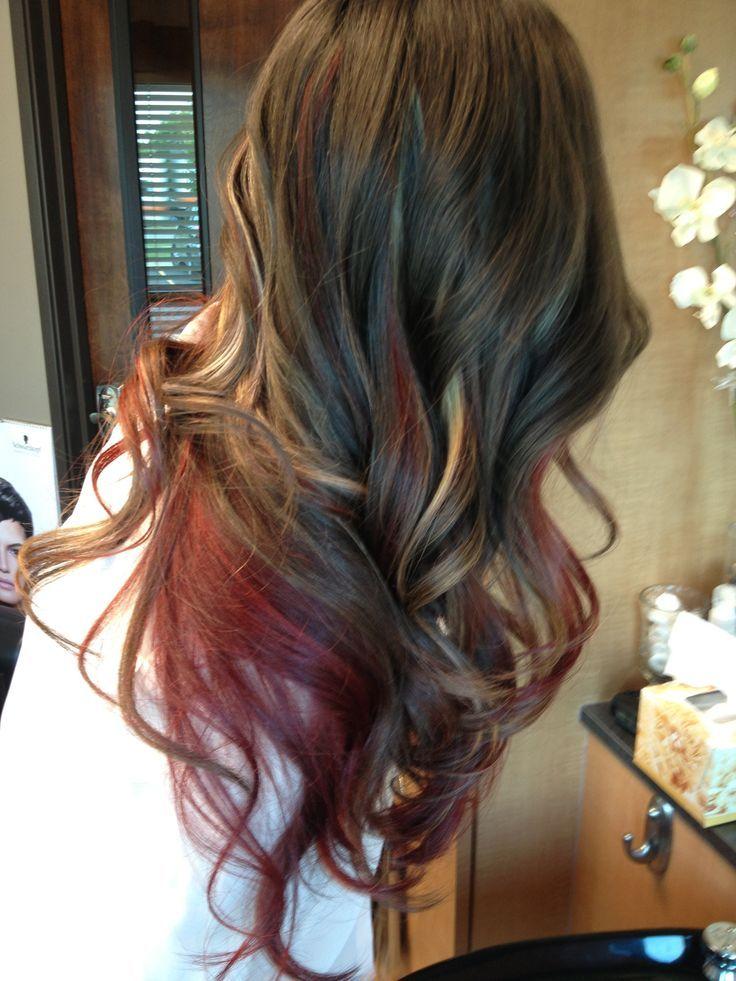 Brown Hair With Red Underneath Hair T Brown Hair