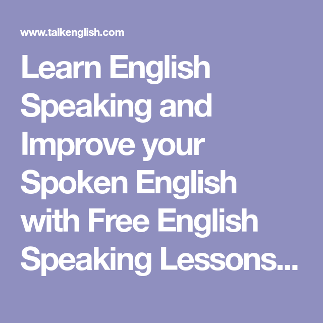 learn to speak english fluently online free
