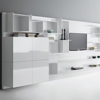Contemporary Modular Bookcase   VITA By Massimo Mariani U0026 Aedas Ru0026D   MDF  Italia   Videos