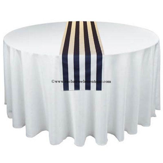Wedding Navy Blue White Stripe Table Runner Home Decor Nautical Modern  Centerpiece Reception Decoration Linens Fabric Free Shipping