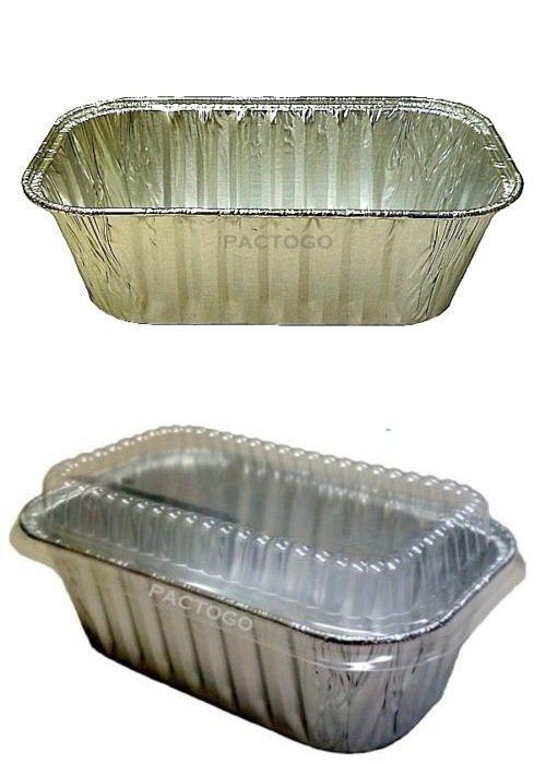 Handi Foil 1 Lb Aluminum Mini Loaf Bread Baking Pan W Clear Low