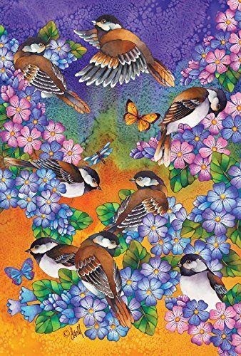 Toland Home Garden Chickadee Welcome 28 X 40 Inch Decorative Usa