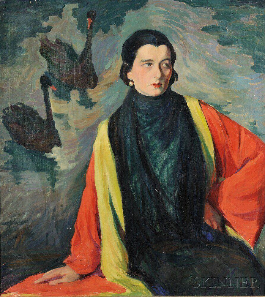 Boston School, 20th Century The Black Swan Artist