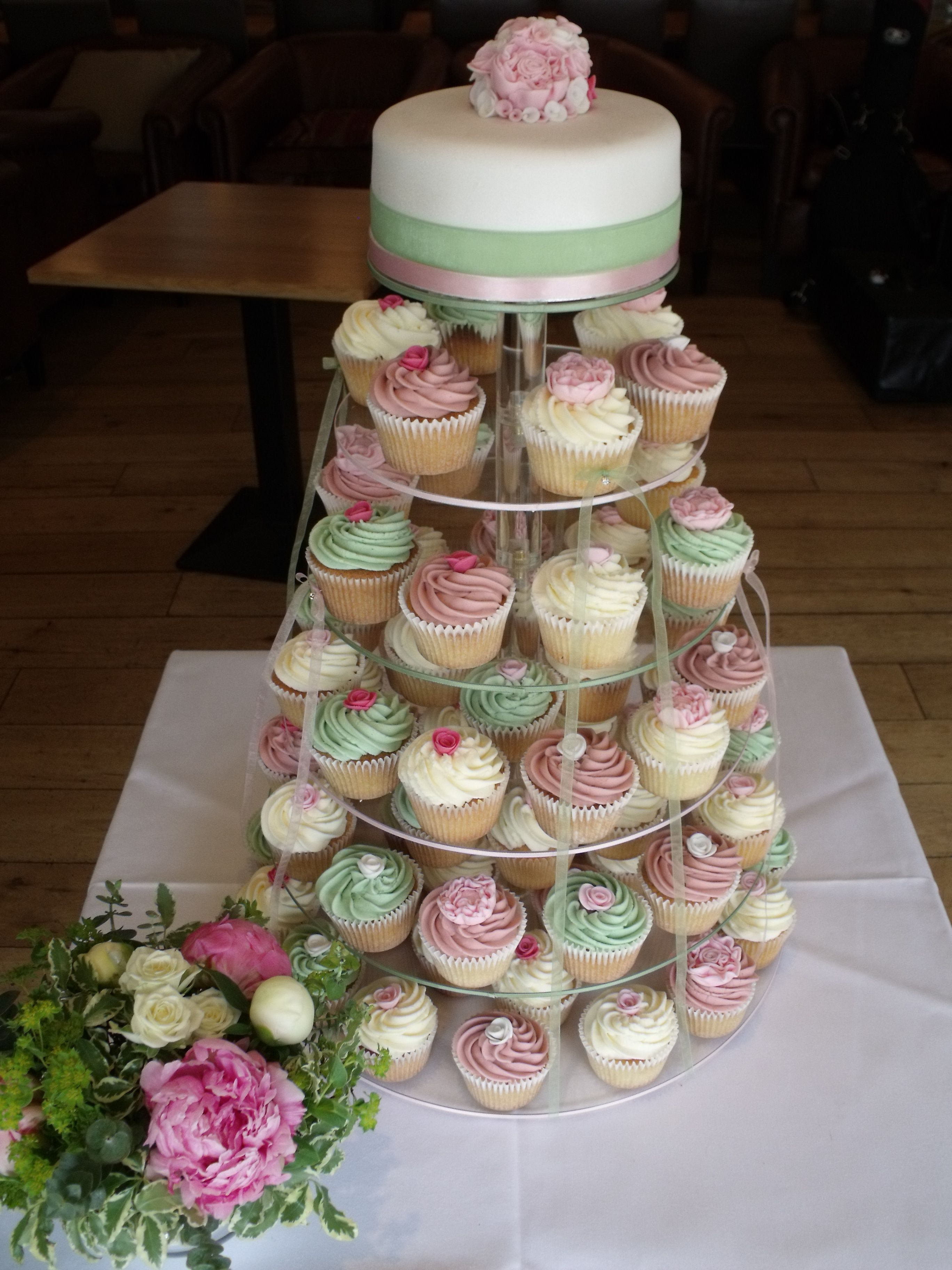 cupcake towers for weddings | The cupcake tower was for a spring ...