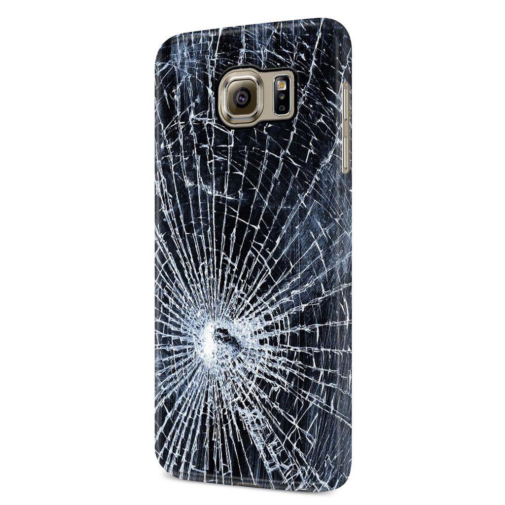 Broken Glass Wallpaper 1 Samsung Galaxy S6 S6 Edge Plus S7 S7 Edge S8 S8 Plus S9 S9 Plus 3d Case Broken Glass Wallpaper Samsung Galaxy S6 Blue Phone Case