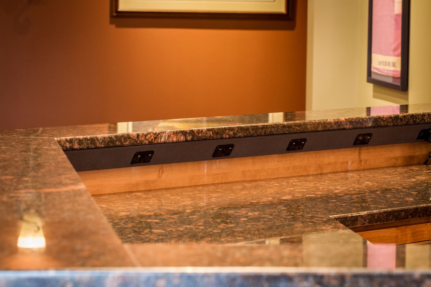 The Patented Tr Angle Power Strip Mounts Under Cabinets And