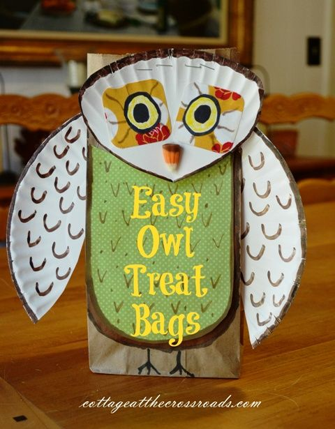 These Easy Owl Treat Bags Are A Great Project For Children To Make And Enjoy