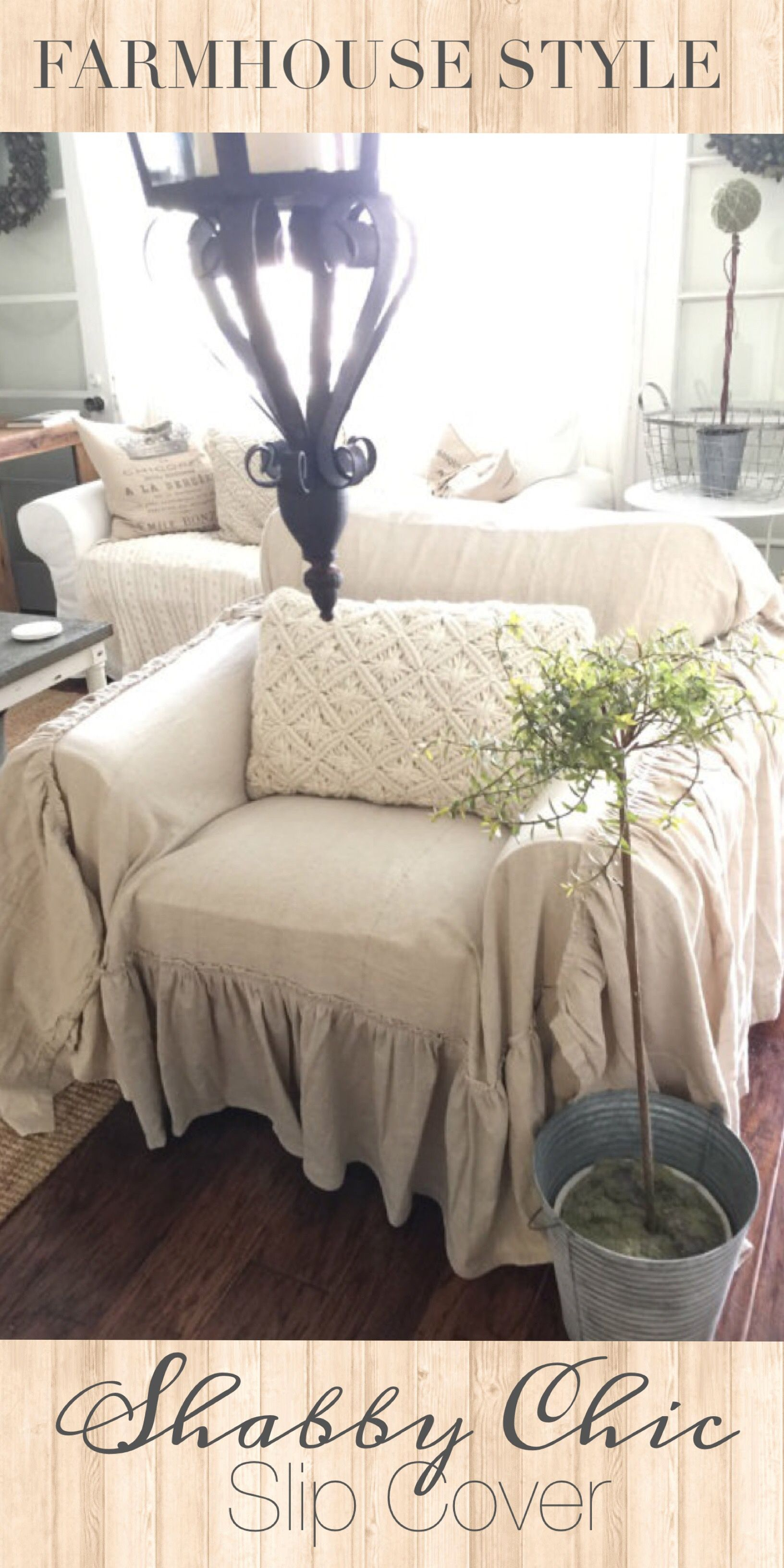 cover my furniture. Gorgeous Shabby Chic Slip Cover! #ad Oh My Goodness Is This Not The Most Beautiful Thing You Have Seen Today?! Love Mix Of Farmhouse And Chic! Cover Furniture G