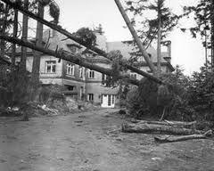 Infamous Columbus Day Storm Oct 12 1962 Bridge City Mansions Oregon Trail