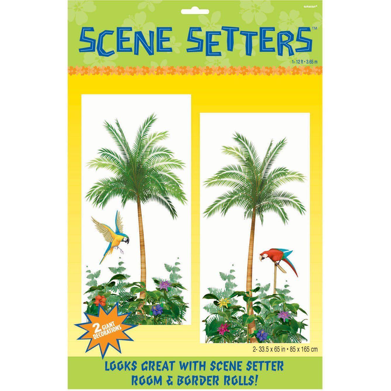 palm tree kitchen decor custom amscan international scene setter add ons