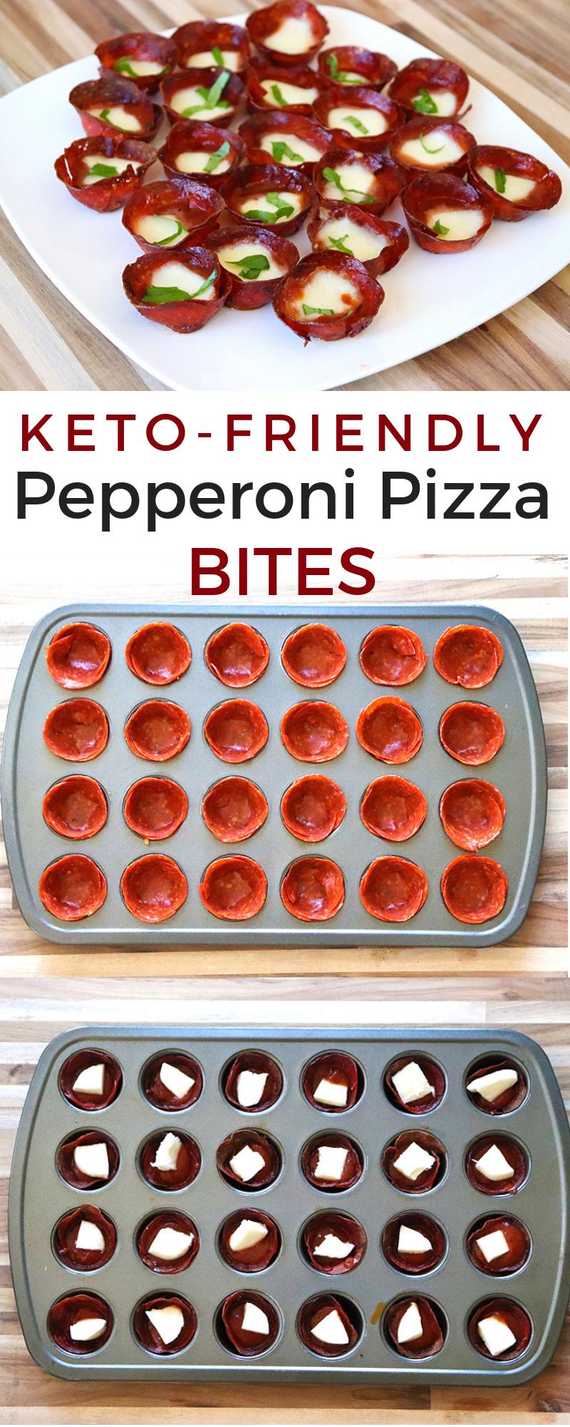 Keto Pepperoni Pizza Bites #keto