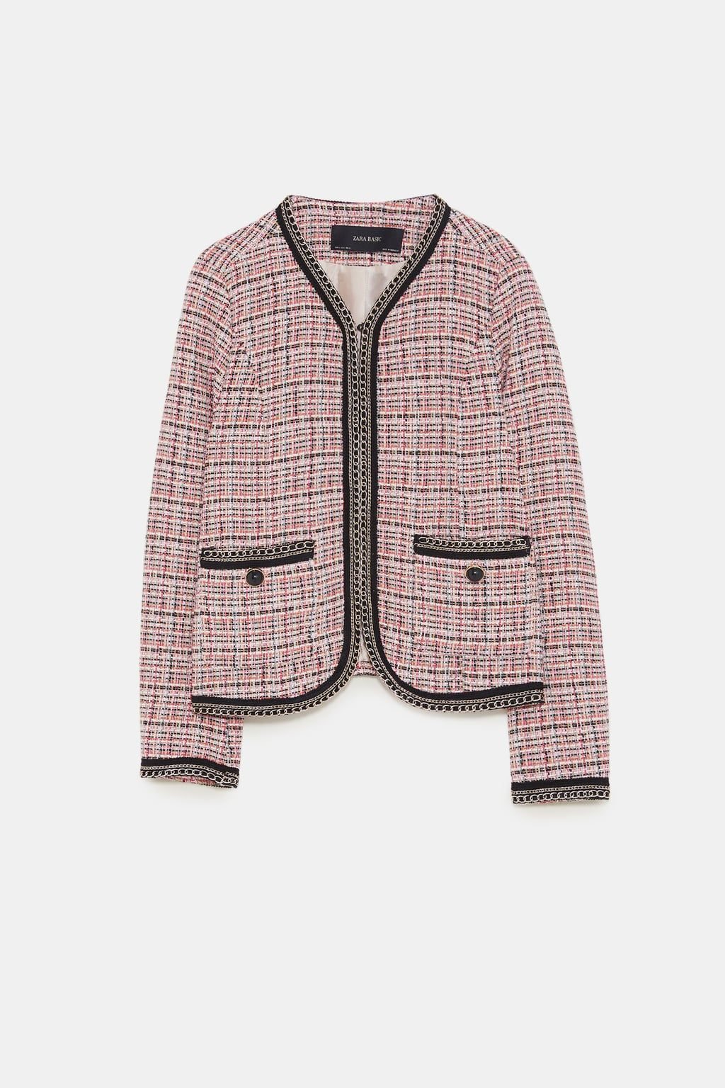 9a44ad08 Image 8 of TWEED BLAZER WITH CHAINS from Zara | Want | Tweed blazer ...