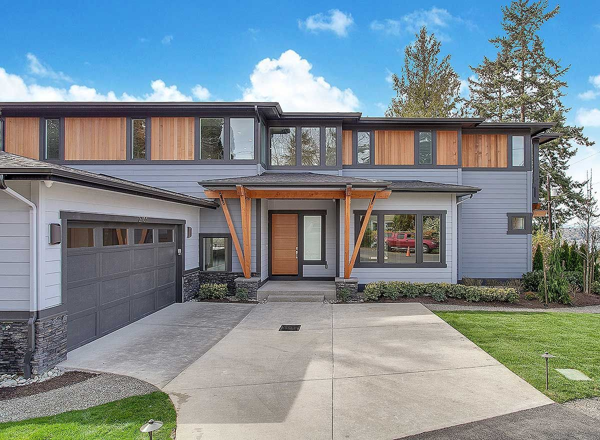 Living The Dream - 23638JD   Modern, Northwest, Prairie, Photo Gallery, Premium Collection, 2nd Floor Master Suite, Den-Office-Library-Study, Media-Game-Home Theater, Sloping Lot   Architectural Designs