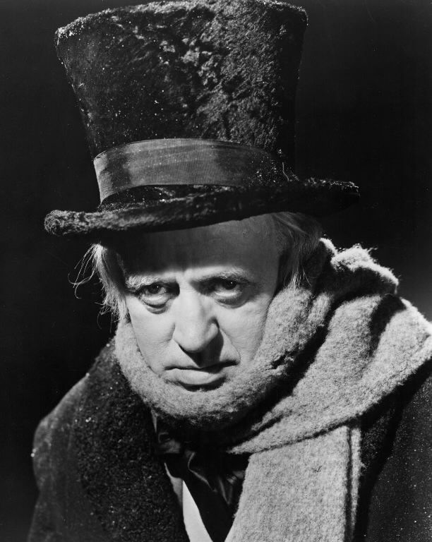 A Christmas Carol - with Allistair Sim - black and white of course - simply the best version ...