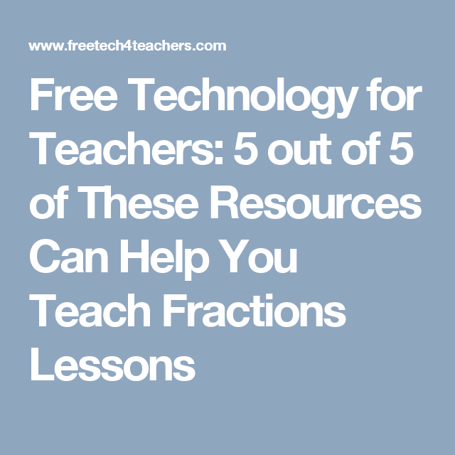 Free Technology for Teachers: 5 out of 5 of These Resources Can Help ...