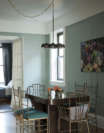 Colorful Cool East Village Bachelor Pad Dining In Style Bamboo