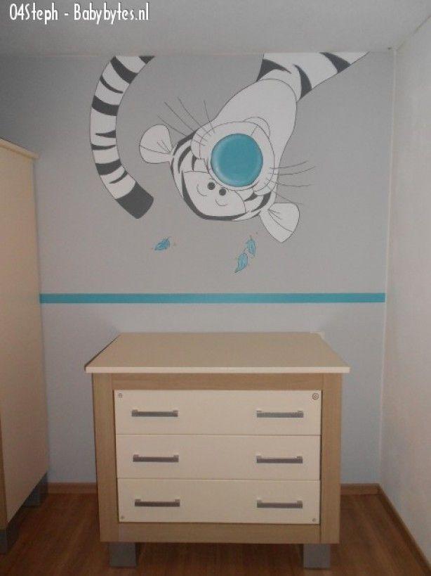 Muurschilderingen on pinterest murals winnie the pooh and doors - Gordijn voor baby kamer ...