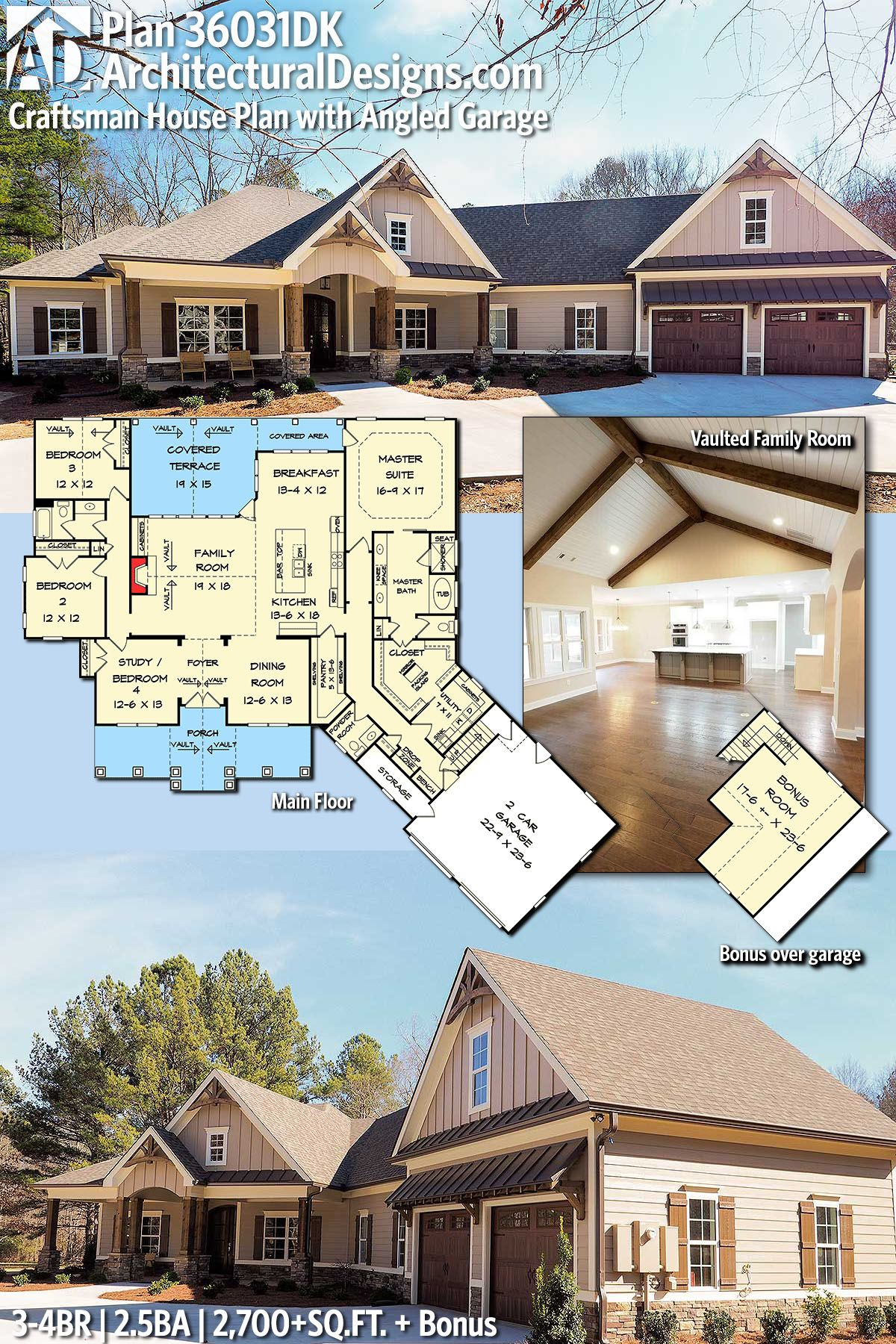 Architectural Designs European Cottage House Plan 36031DK