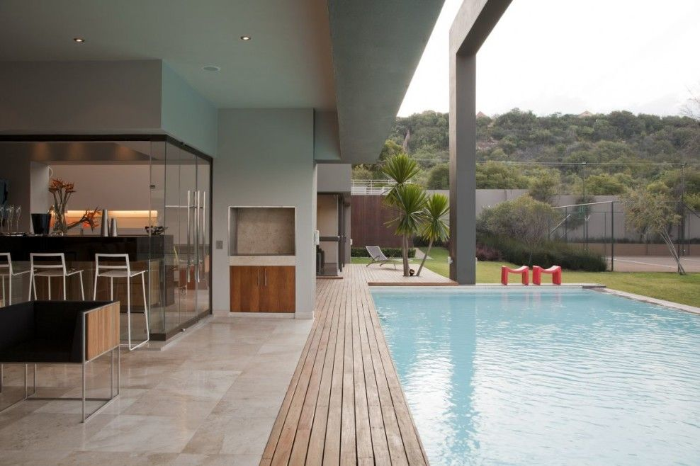 home indoor pool with bar. Architecture, Interesting Contemporary Minimalist House Design With Outdoor Swimming Pool And Mini Bar Elegant Terrace Home Indoor P